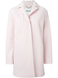 Kenzo Single Breasted Coat Pink And Purple