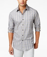 Tasso Elba Big And Tall Grid Pattern Shirt Only At Macy's