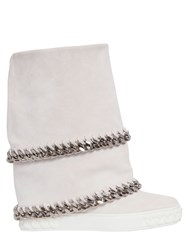 Casadei 80Mm Double Chain Suede Wedged