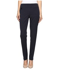 Lisette L Montreal Gaby Stretch Fabric Slim Pants Navy Women's Dress Pants