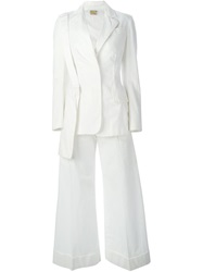 Walter Van Beirendonck Vintage 'A Fettish For Beauty' Cropped Trousers White