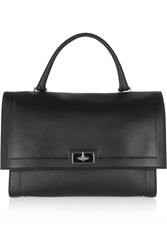 Givenchy Medium Shark Bag In Black Textured Leather
