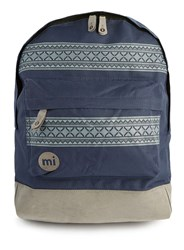 Topman Mi Pac Blue And Tan Patterned Stripe Backpack Multi