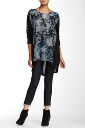 Biya Print Panel Hi Lo Tunic Blue