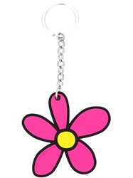 Christopher Kane Daisy Keyring Women Steel Silver Brass Silicone One Size