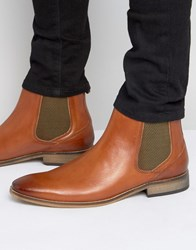 Base London Cheshire Leather Chelsea Boots Tan