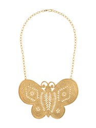 Katheleys Vintage Kenneth Lane Butterfly Sex And The City Necklace Gold