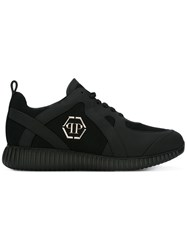 Philipp Plein Logo Embossed Sneakers Black