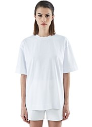 Marni Boxy Fit Crew Neck T Shirt White