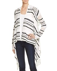Aqua Hooded Fringe Cardigan 100 Exclusive White Black Yellow