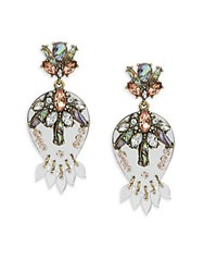 Baublebar Goldtone Stud Earrings Antique Silver