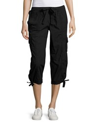 Calvin Klein Cropped Active Cargo Pants Black