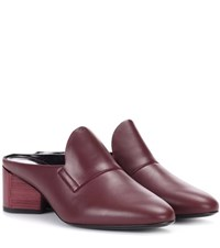 Pierre Hardy Leather Mules Red