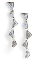 b6509d1d8 St. John 'S Collection Swarovski Crystal Drop Earrings Rhodium Crystal