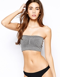 Pieces Tito Padded Tube Bra Grey