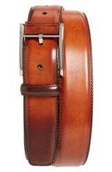 Magnanni Big And Tall Catalux Leather Belt Cognac