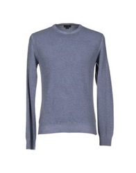 Seventy By Sergio Tegon Sweaters Slate Blue