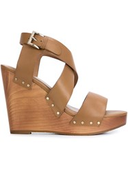 Joie Wedge Sandals Brown