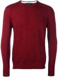 Joseph Fine Knit Jumper Red