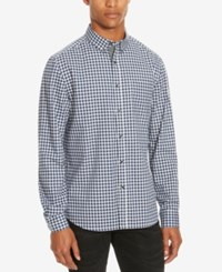 Kenneth Cole Reaction Men's Check Print Shirt Dusty Lilac Combo