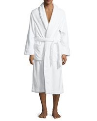 Neiman Marcus Plush Spa Robe White