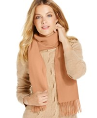 Charter Club Solid Woven Cashmere Scarf Only At Macy's Heather Camel