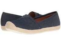 Comfortiva Sheridan Navy Denim Women's Slip On Shoes Blue