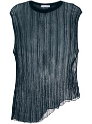 Christian Wijnants Kaiso Pleated Top Blue