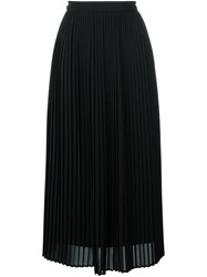 Kenzo Pelated Midi Skirt Black