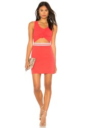 Kendall Kylie Cut Out Dress Red