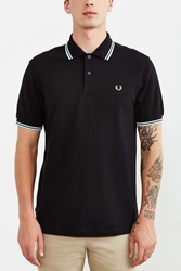 Fred Perry Classic Twin Stripe Polo Shirt Black