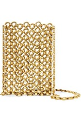 Laura Lombardi Gold Tone Brass Clutch One Size