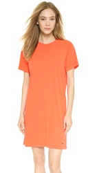 Marc By Marc Jacobs Sun Bleached Favorite Tee Shirt Dress Bright Tangelo