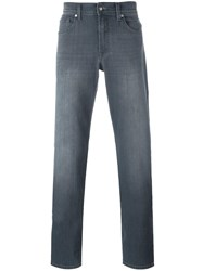 7 For All Mankind Straight Jeans Grey