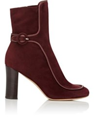 Derek Lam Women's Sam Piped Ankle Booties Burgundy