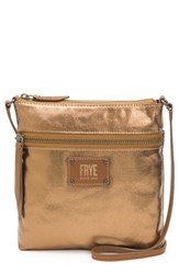 Frye Ivy Metallic Nylon Crossbody Bag Brown Bronze