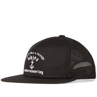 White Mountaineering Anchor Print Mesh Cap Black