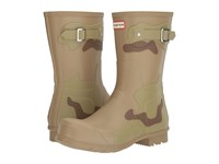 Hunter Original Short Desert Camo Layers Pale Sand Sage Light Khaki Brown Men's Rain Boots Beige