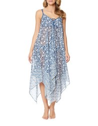 Jessica Simpson Floral Printed Coverup Blue