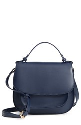 Sole Society Faux Leather Crossbody Bag Blue Midnight