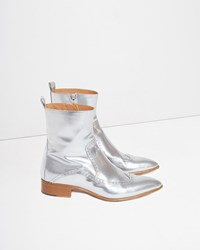 Maison Martin Margiela Brushed Effect Ankle Boot Silver