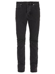 Neuw Iggy Ripped Knee Slim Leg Jeans Black
