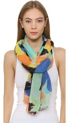 Bindya Pop Brush Stroke Scarf Blue
