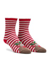 Pretty Polly Reindeer Sock Red
