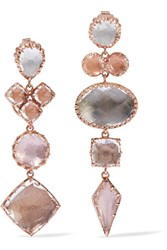 Larkspur And Hawk Sadie Rose Gold Dipped Quartz Earrings One Size