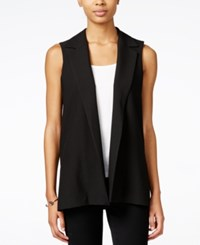 Bar Iii Open Front Collared Vest Only At Macy's Anthracite