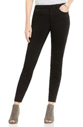 Vince Camuto Women's Two By D Luxe Stretch Twill Moto Jeans Rich Black