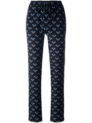 Markus Lupfer Bumble Bee Print Track Pants Black