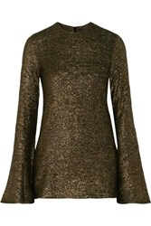 Ellery Inception Metallic Knitted Sweater Gold