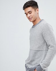 Lindbergh Knitted Jumper In Grey Contrast Grey Mix